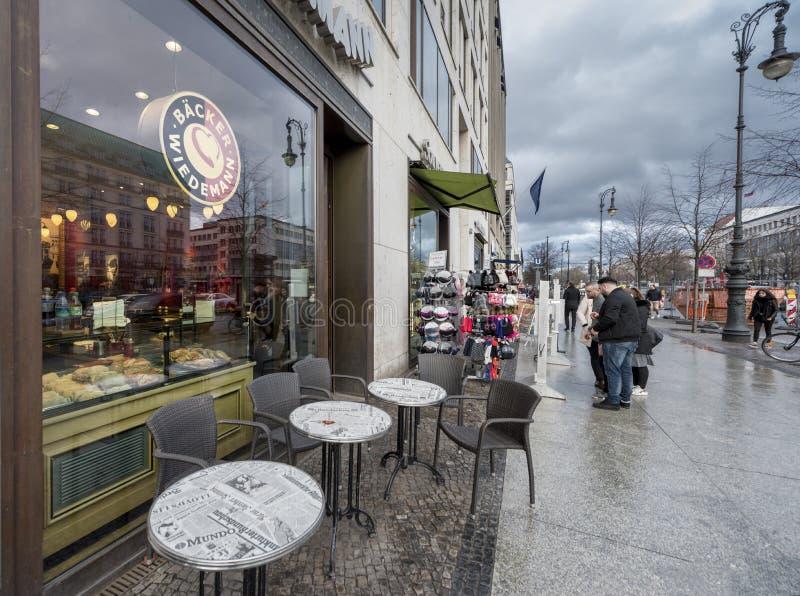 Caffè della via a Berlino fotografie stock