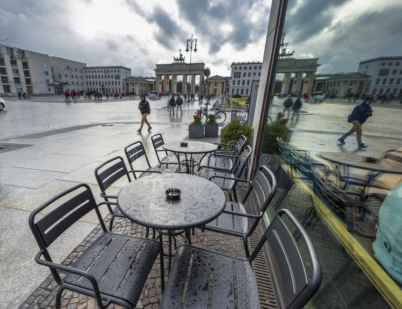 Caffè della via a Berlino fotografie stock libere da diritti