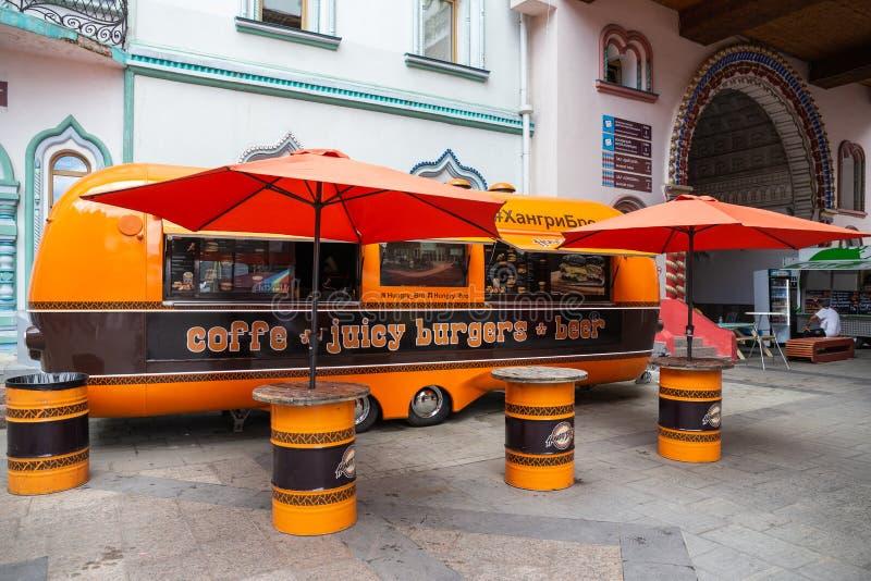 Caffè della via in rimorchio fotografie stock libere da diritti