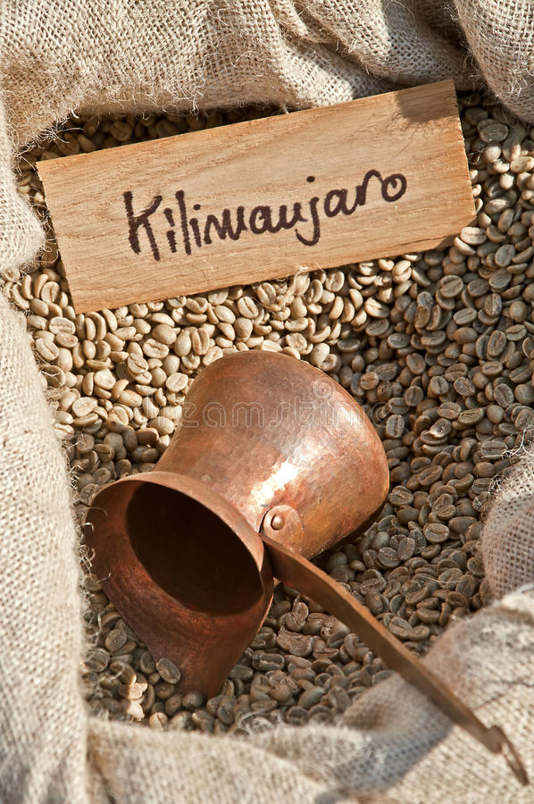 Caffè di Kilimanjaro immagini stock libere da diritti