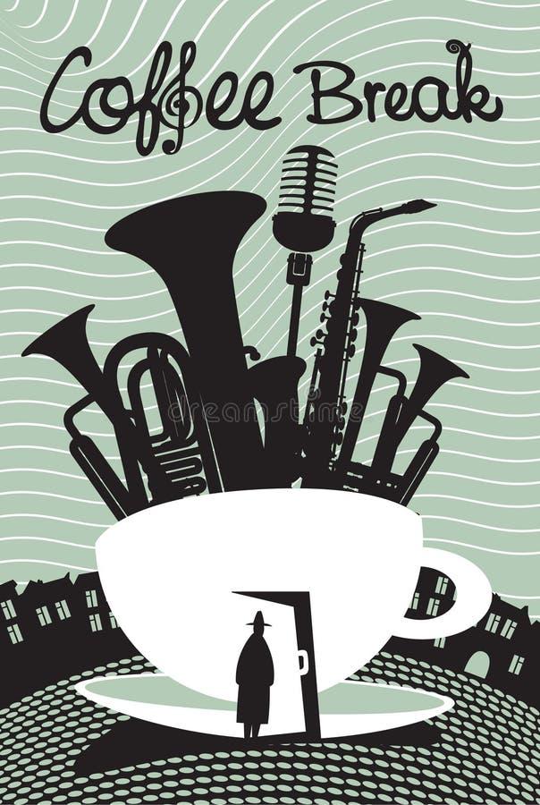 Caffè di musica illustrazione vettoriale