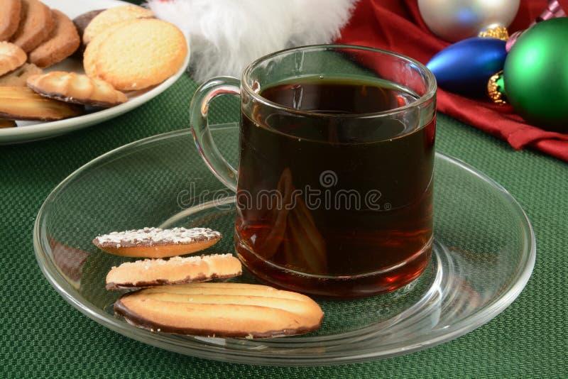 Caffè di nad dei biscotti di Natale fotografie stock libere da diritti