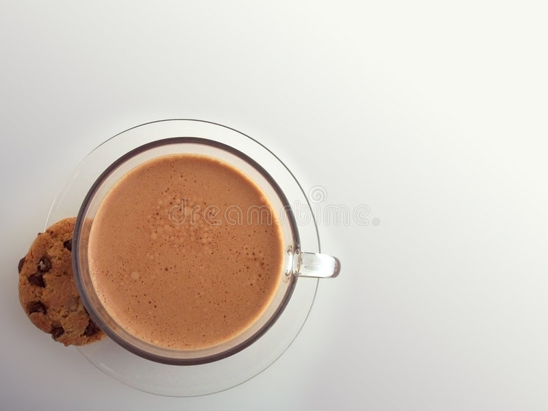 Download Caffè e biscotto fotografia stock. Immagine di caldo, tazza - 210444