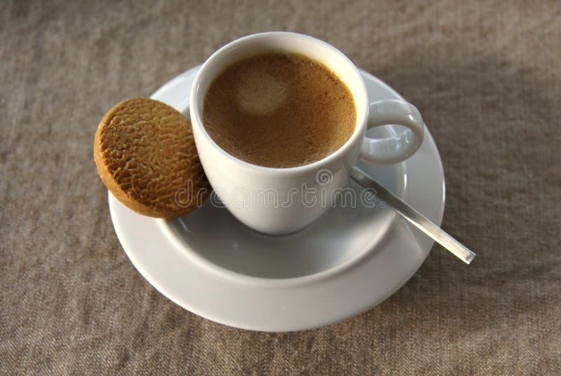 Caffè e biscotto del caffè espresso fotografie stock libere da diritti