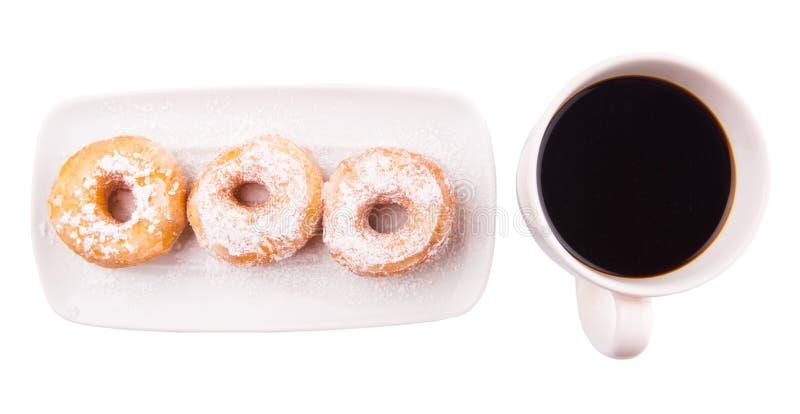 Caffè e ciambella IV fotografie stock libere da diritti