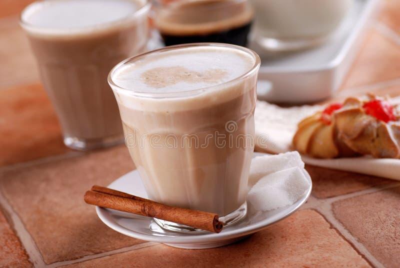 Caffè e latte immagine stock