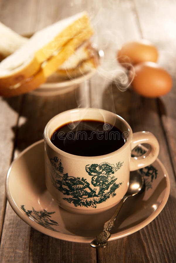 Caffè e prima colazione cinesi orientali tradizionali fotografia stock libera da diritti