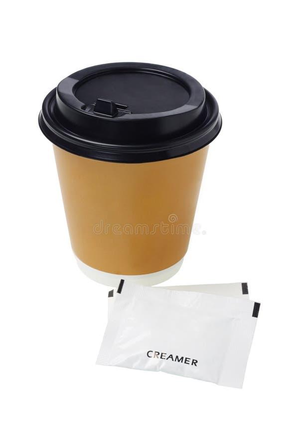 Caffè e scrematrice immagine stock
