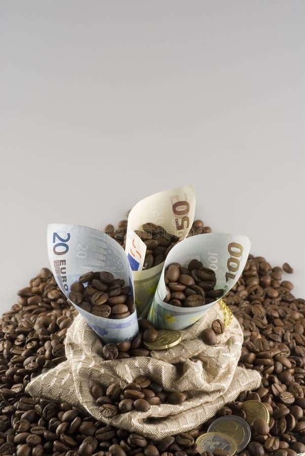 Caffè e soldi immagini stock libere da diritti