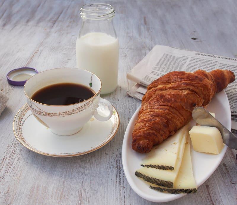 Caffè espresso della tazza di caffè con il deserto fotografie stock