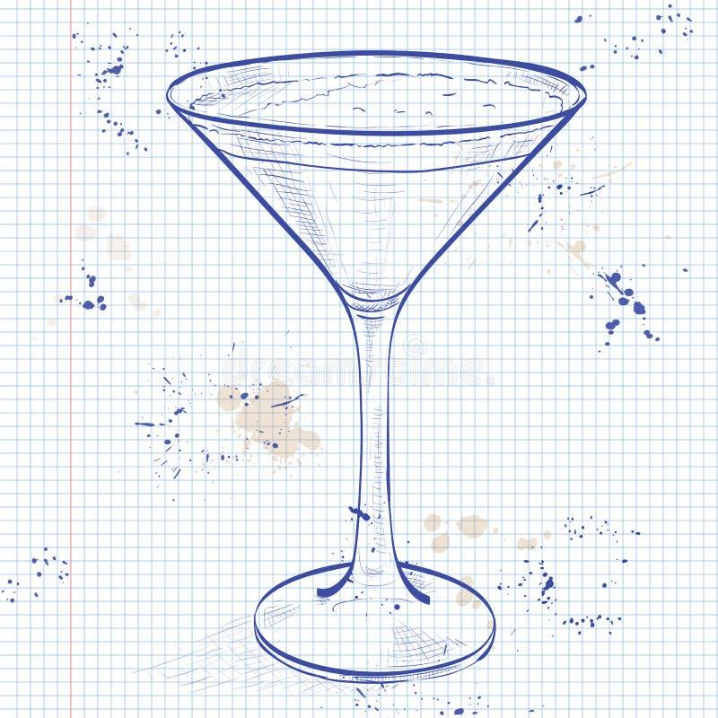 Caffè espresso Martini del cocktail illustrazione vettoriale