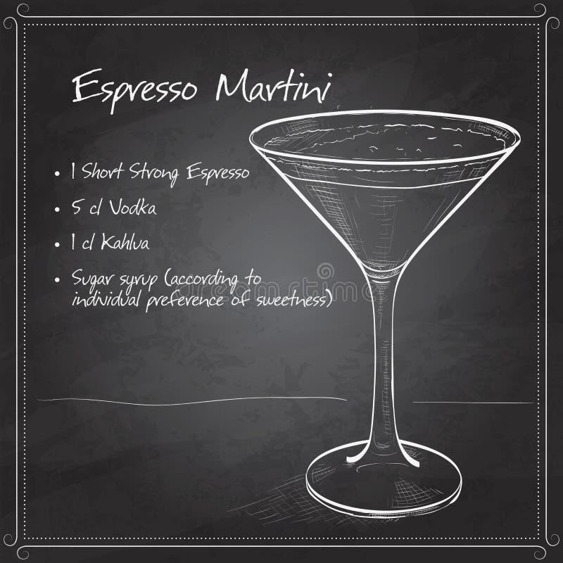 Caffè espresso Martini del cocktail illustrazione di stock