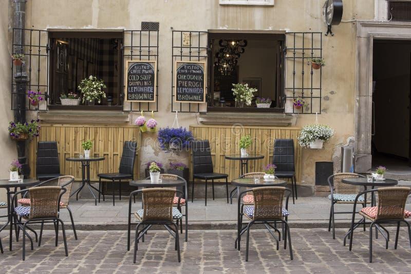 Caffè esterno europeo immagini stock
