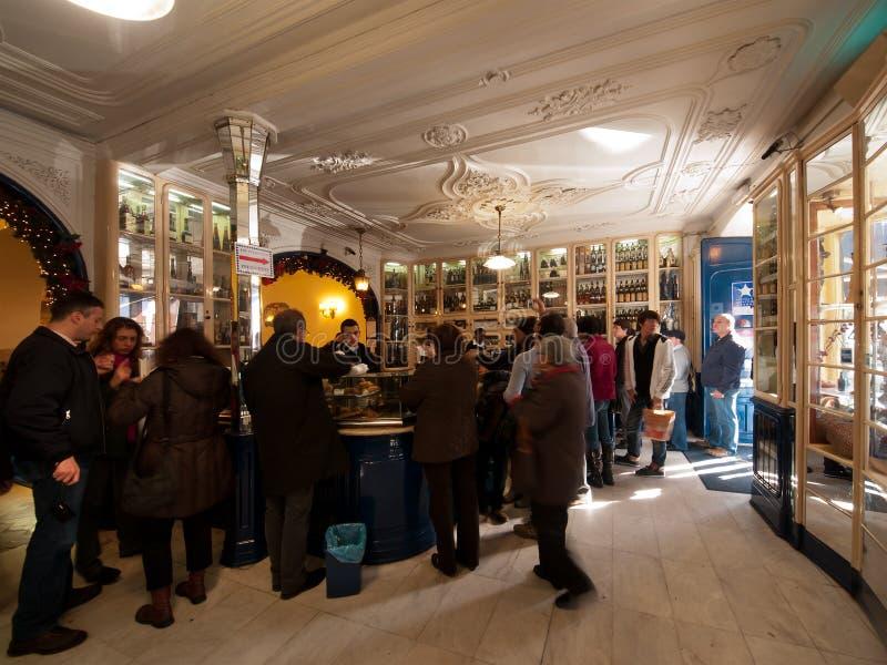 Caffè famoso di Belem Lisbona immagine stock libera da diritti