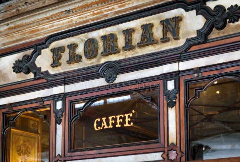 Caff? Florian sulla piazza San Marco a Venezia fotografia stock libera da diritti