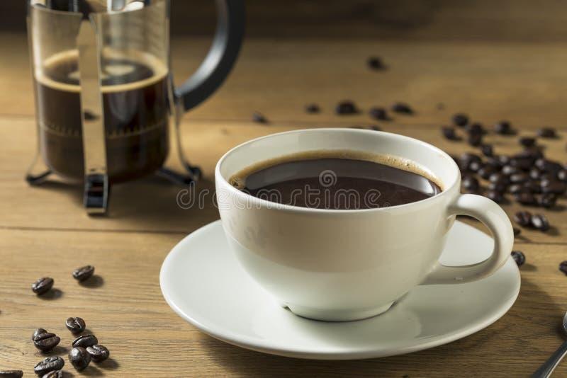 Caffè francese casalingo caldo della stampa fotografia stock