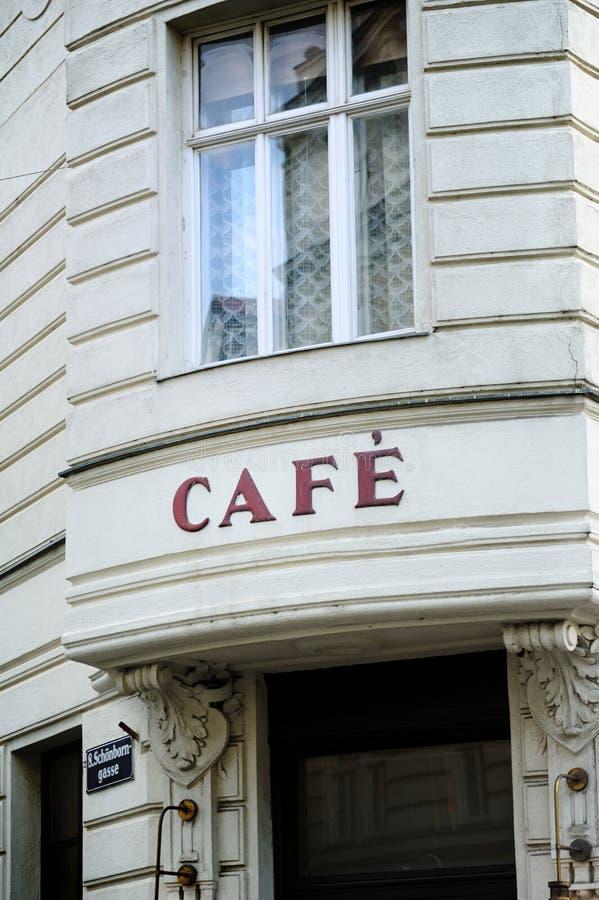 Caffè francese a Vienna immagine stock