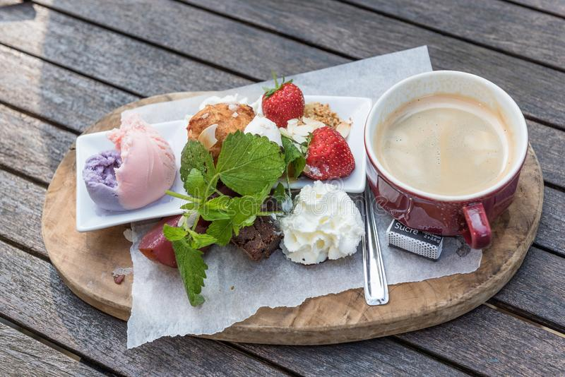 Caffè gastronomico fotografia stock libera da diritti