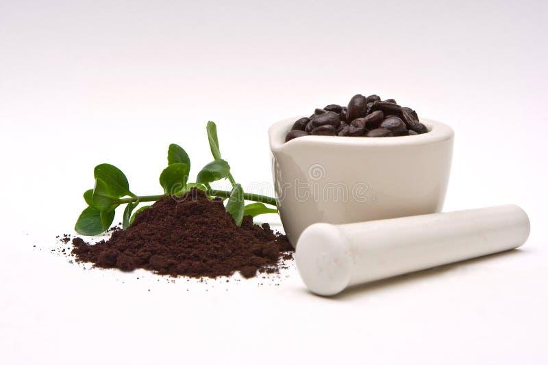 Caffè gastronomico e frantumazione fotografia stock