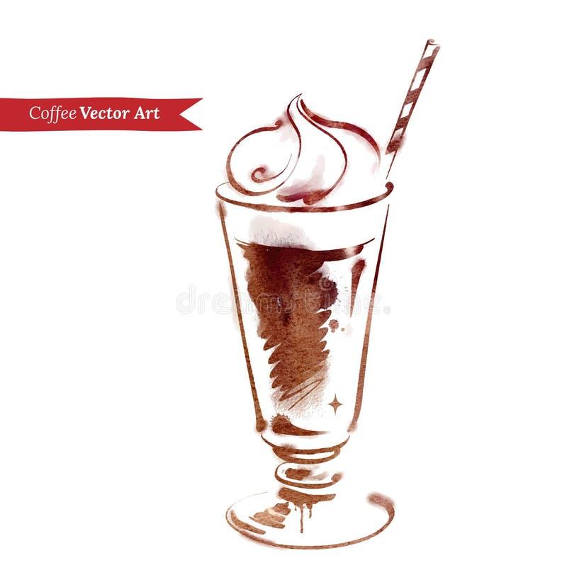 Caffè ghiacciato illustrazione vettoriale
