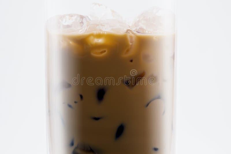 Caffè ghiacciato con latte fotografia stock