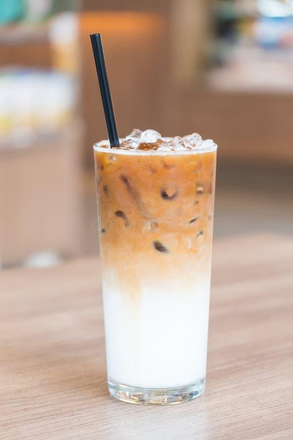 Caffè ghiacciato del latte immagini stock libere da diritti
