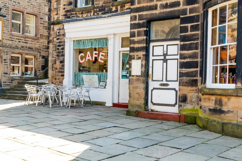 Caffè Holmfirth Huddersfield Yorkshire del ` s di Sid immagine stock libera da diritti