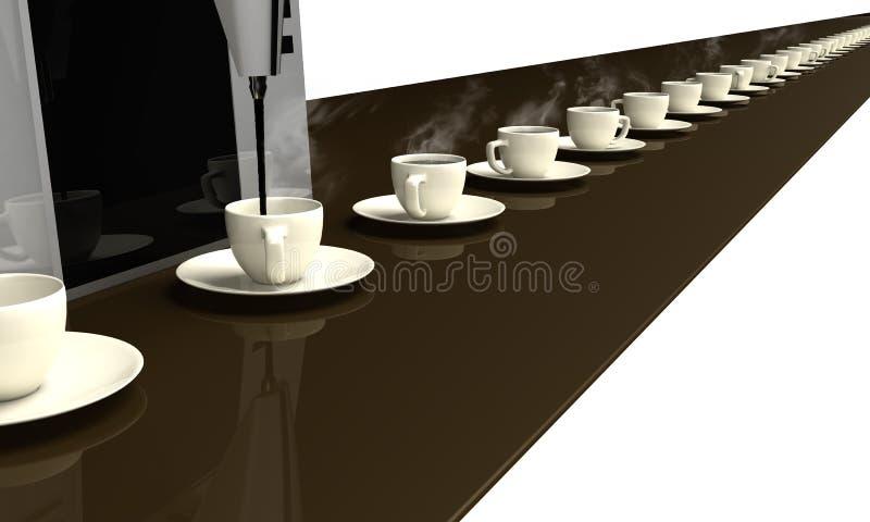 Caffè infinito. illustrazione di stock