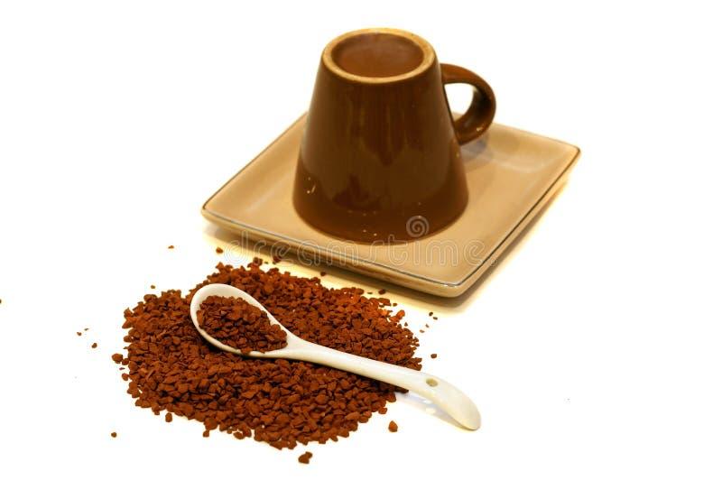 Caffè istantaneo e tazza invertita fotografia stock libera da diritti