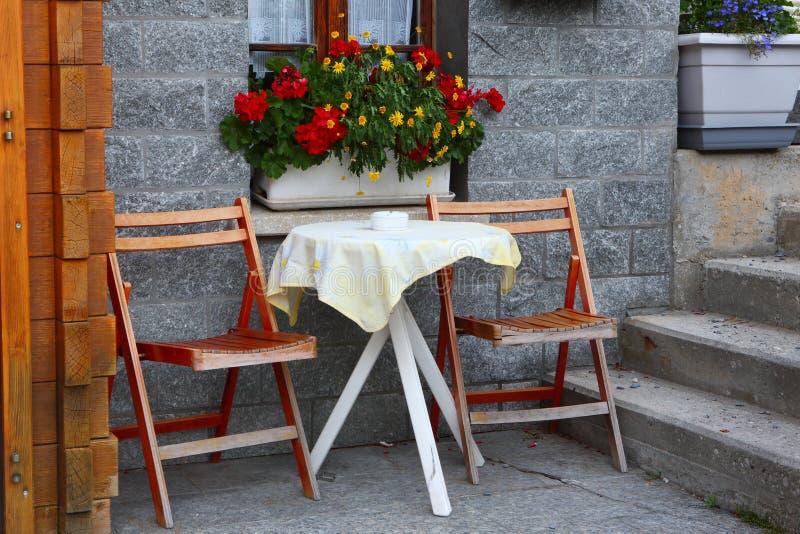 Caffè in LeukerBad, Svizzera immagine stock libera da diritti