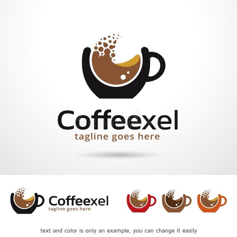 Caffè Logo Template Design Vector del pixel illustrazione di stock