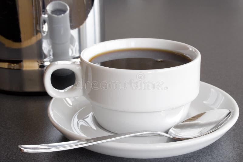 Caffè nero servente fotografia stock