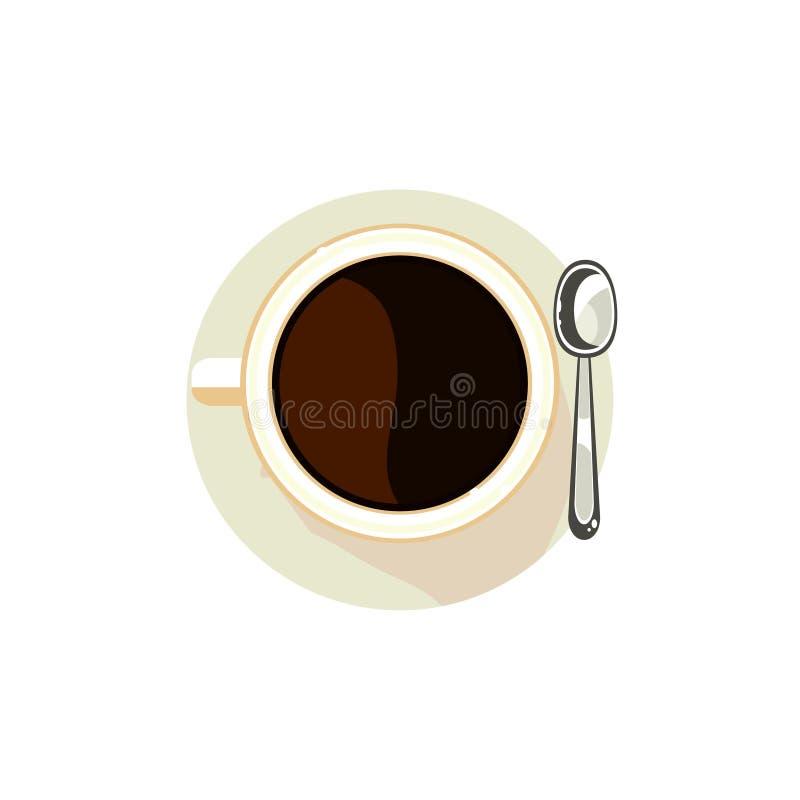 Caffè nero in una tazza Illustrazione di vettore illustrazione di stock