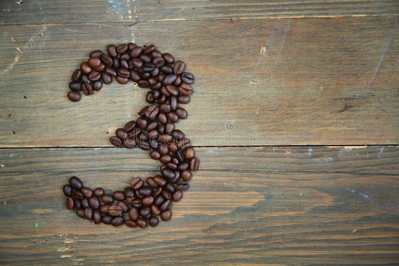 Caffè numero tre immagini stock libere da diritti