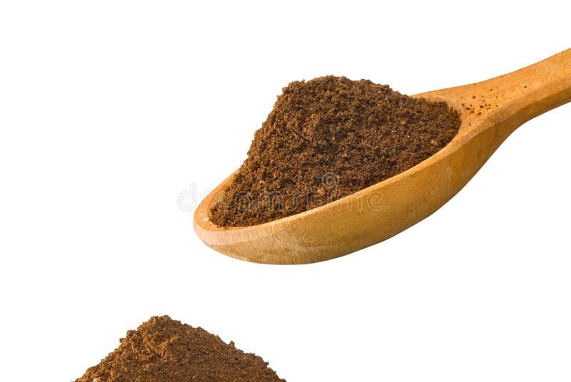 Caffè solubile nel cucchiaio fotografia stock libera da diritti