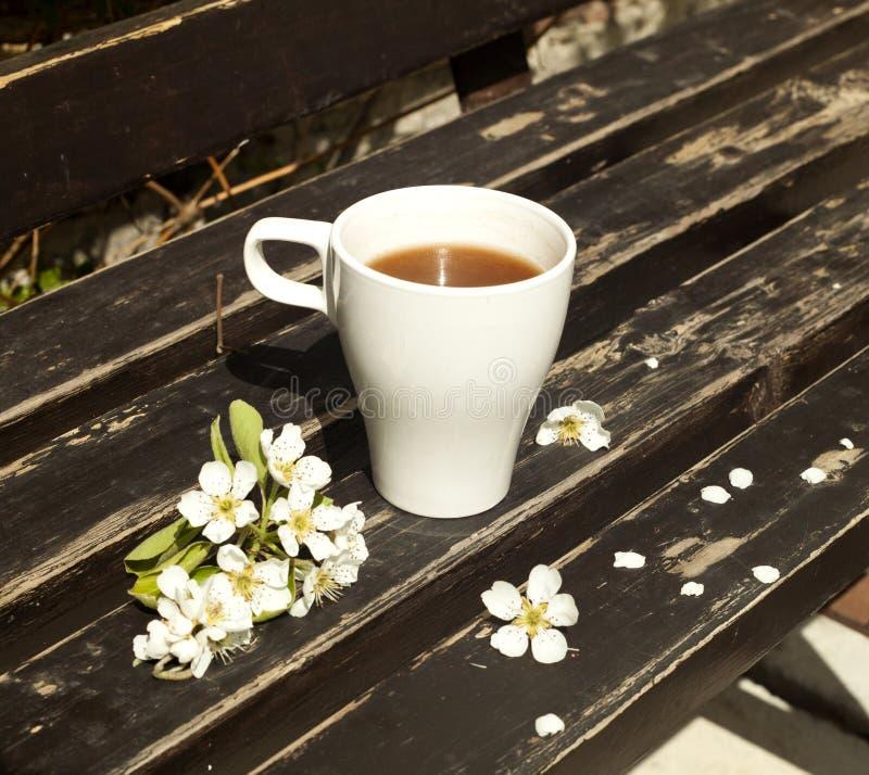 Caffè sul banco fotografia stock