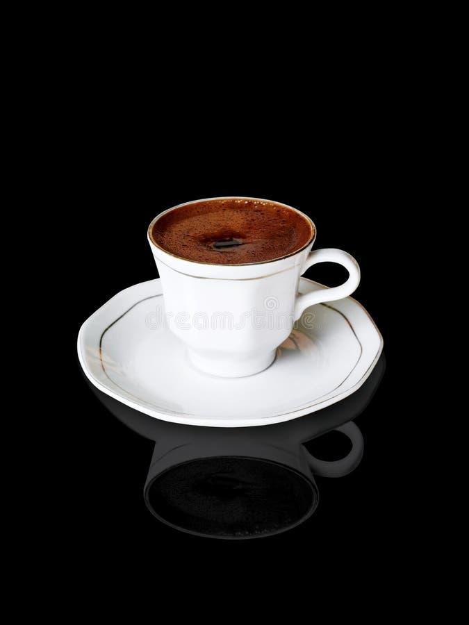 Caffè sul nero fotografie stock