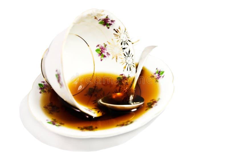 Caffè/tè rovesciati fotografia stock
