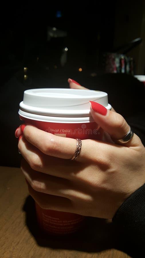 Caffè a tarda notte fotografia stock