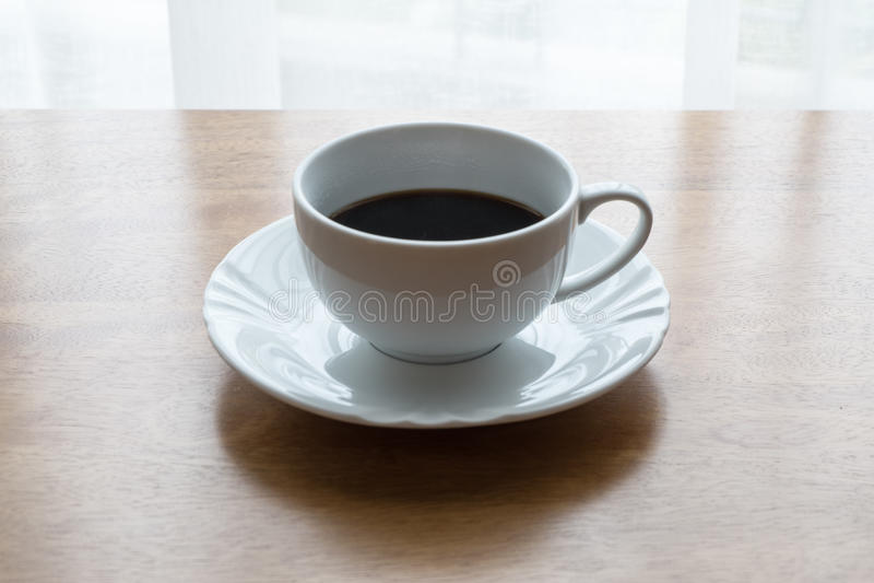 Caffè, tazza, tavola, bianco, il nero, caffè espresso, bevanda, prima colazione, mattina, aroma, MU immagine stock