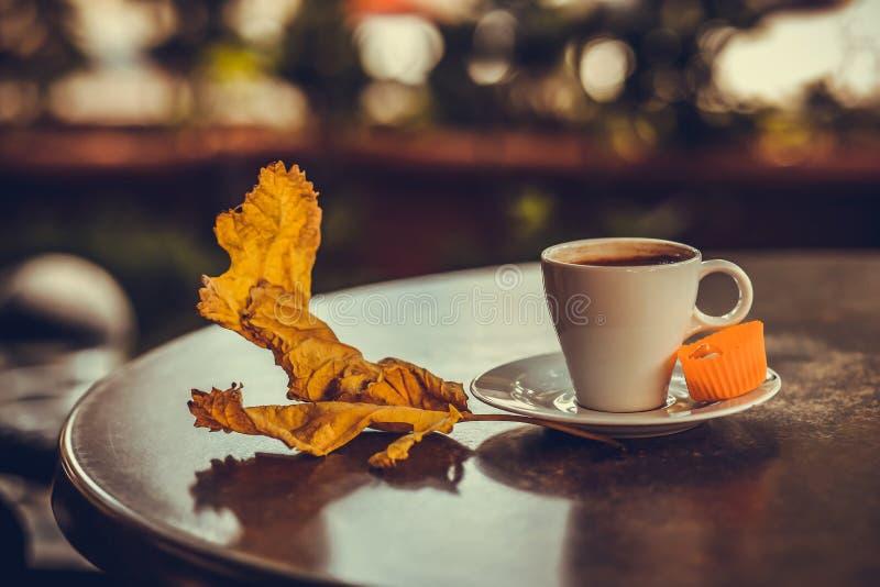 Caffè turco con leafe 2 fotografia stock