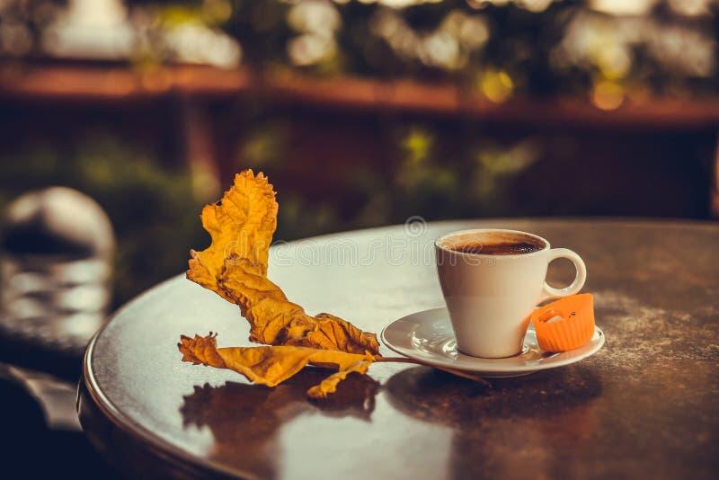Caffè turco con leafe 4 immagini stock libere da diritti