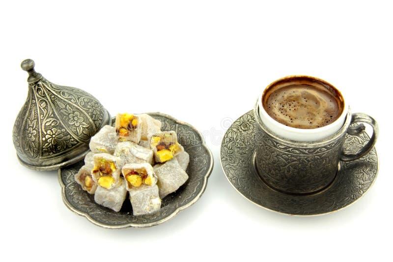Caffè turco e delizia turca fotografie stock libere da diritti
