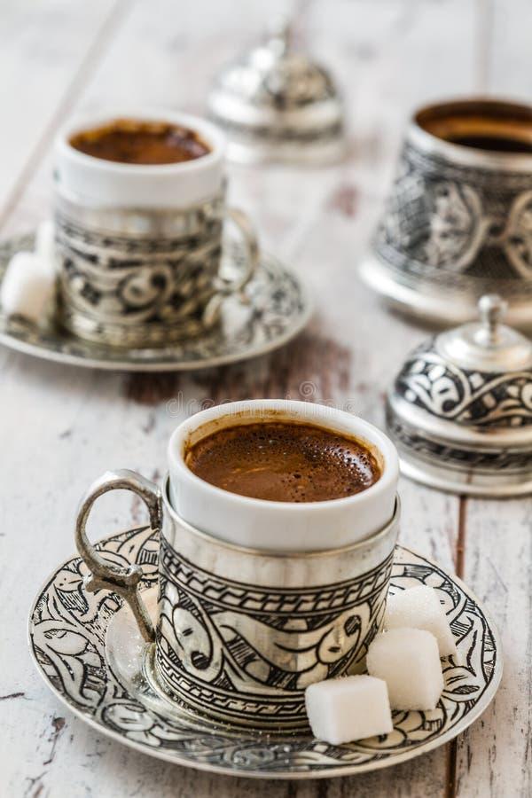 Caffè turco tradizionale fotografie stock