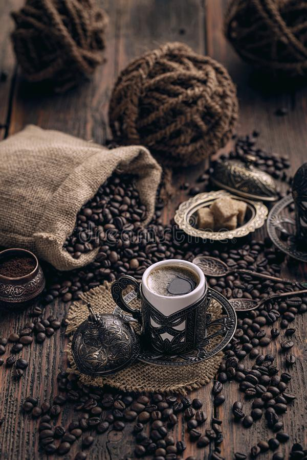 Caff? turco tradizionale fotografia stock