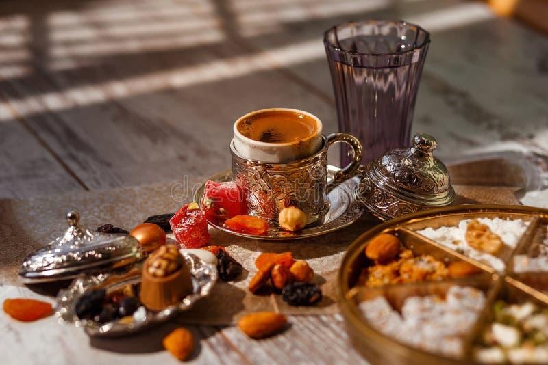 Caff? turco tradizionale su Bayram immagine stock