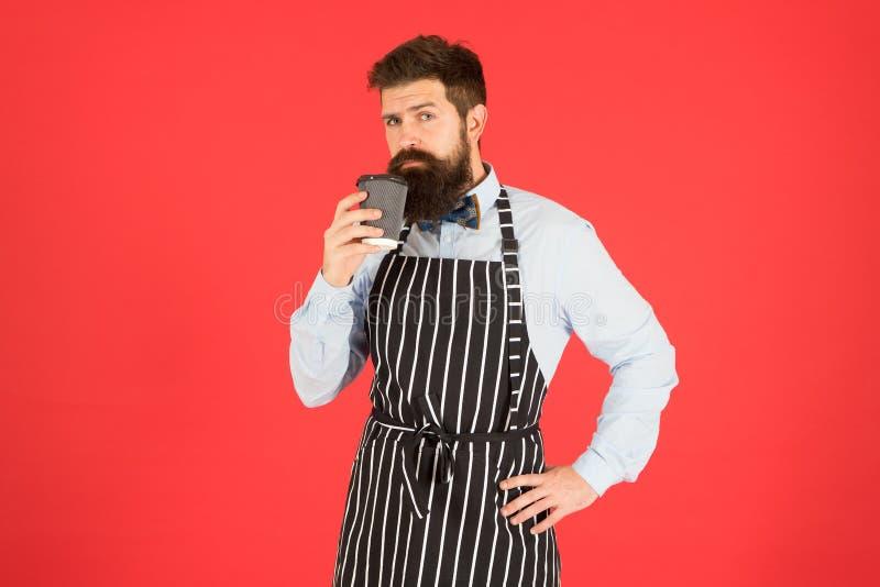 Caffeïnedrank Van zijn baan houden Derde golf koffie streeft naar de hoogste vorm van culinaire appreciatie van koffie Man stock fotografie