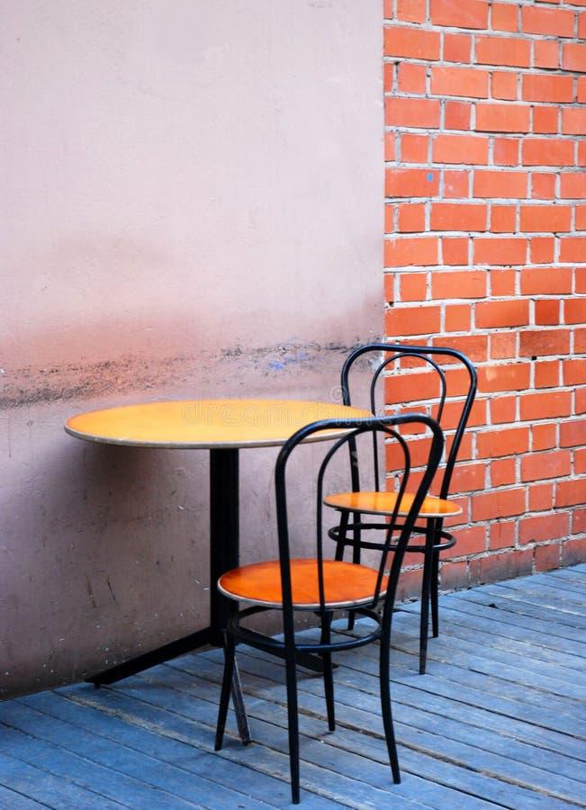 caffe室外葡萄酒 免版税库存照片
