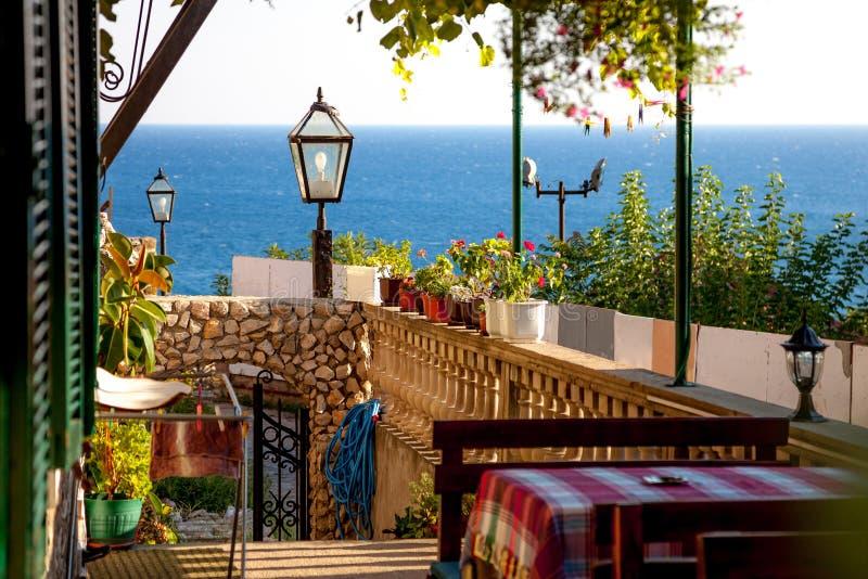 Caffe в балканском стиле стоковая фотография