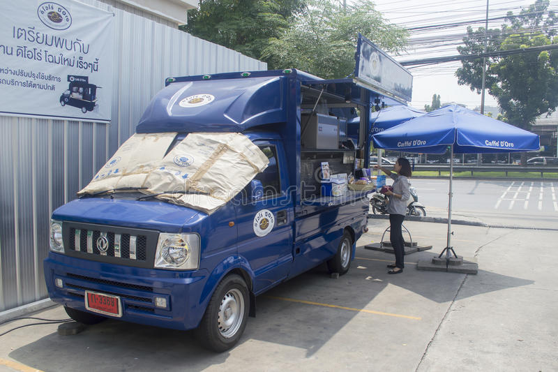 Caffe Doro运输业务汽车 库存照片